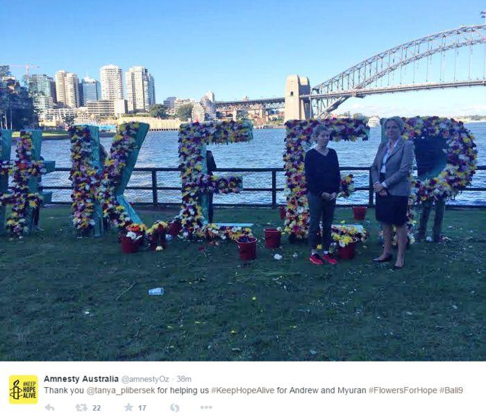 Keep Hope Alive Amnesty international flowers of hope