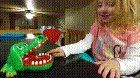 awesome She played Crocodile Dentist for the first time and lost : instant_regret