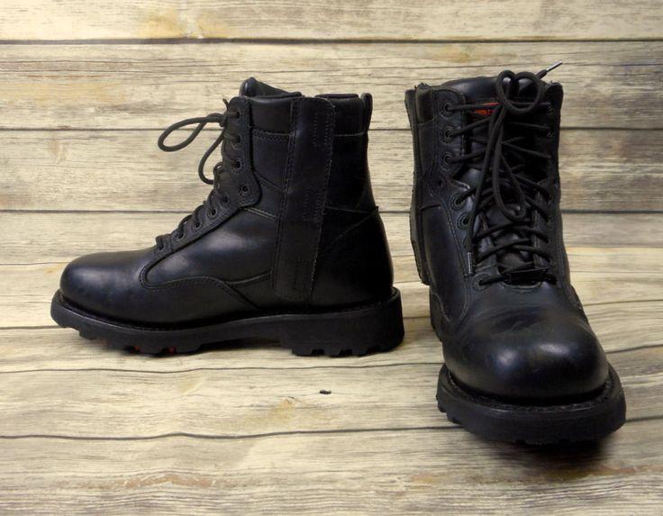 Mens Size 11 Harley Davidson Motorcycle Boots Black Leather Lace Up Biker 93074 #HarleyDavidson #Motorcycle
