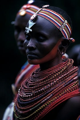 Portrait of Samburu woman. Kenya   © George Wright