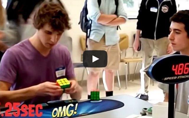 RECORD! Cubo di Rubik risolto in 5.25 secondi #rubik #record #cubo #video
