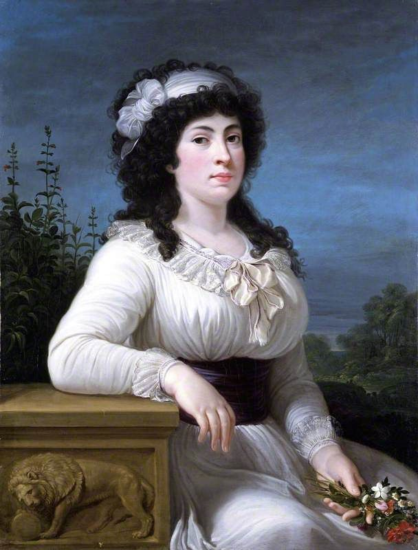 BBC - Your Paintings - Maria Morigia Reina by Andrea Appiani the elder, 1795-1800.