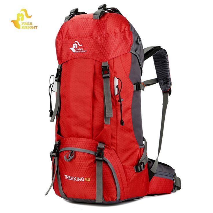 Caballero libre 60L Impermeable Escalada Senderismo Cubierta para La Lluvia Mochila de Camping 50L Del Alpinismo Mochila Bolsa de Deporte Al Aire Libre