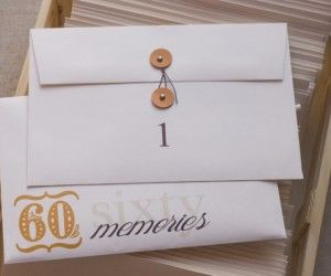 Dad's 60th Birthday Party { 60 Memories }