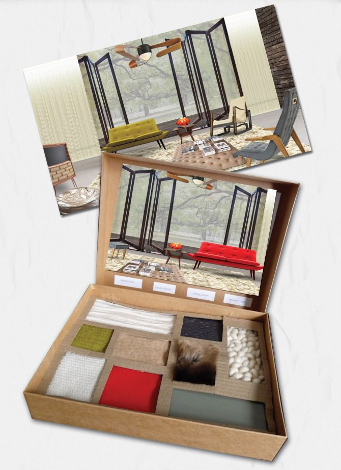 materials LAYOUT - - - - - - ----------- - - - - - -Presentation Materials - ANNA BURLES Interior Design & Art Direction Portfolio