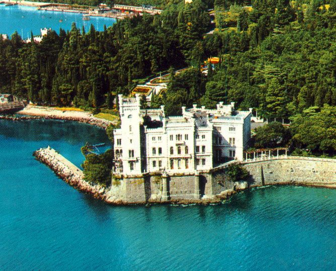 Image detail for -... Top castles to visit in Europe - Miramare Castle in Trieste, Italy
