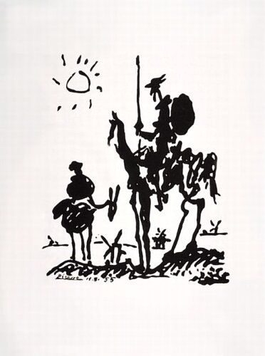 Tableau de Don Quichotte par Pablo Picasso