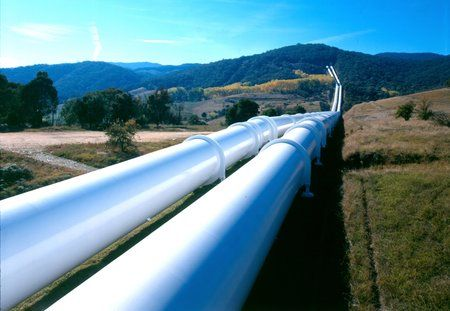 Water pipelines that are part of the infrastructure of the Snowy Mountains Hydro Scheme.