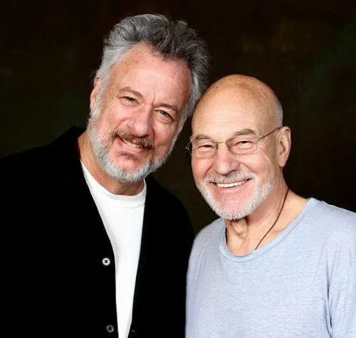 Q and Captain Picard today.