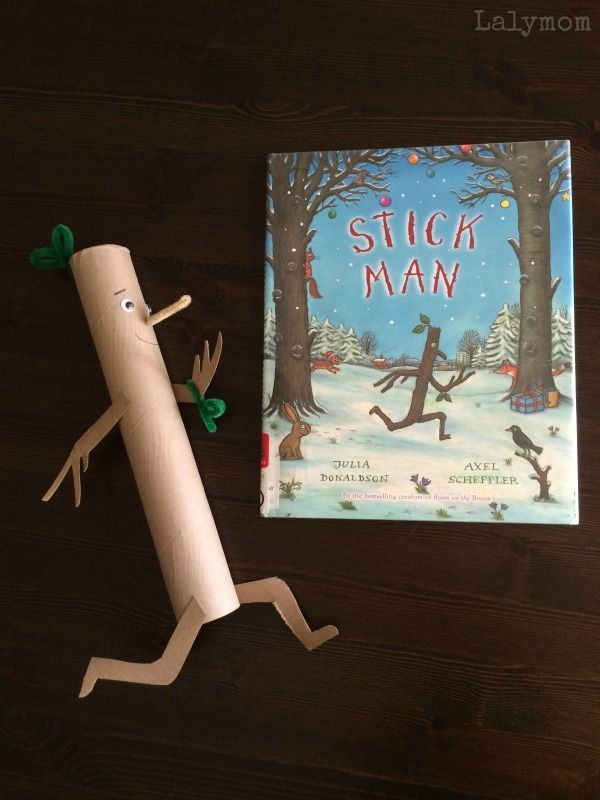 Stick Man Book Crafts for Kids on Lalymom.com Part of the Virtual Book Club for Kids - my toddler and preschooler LOVE this book!