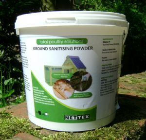 Keep your #chicken run fresh and odour free http://www.durham-hens-poultry-supplies.co.uk/nettex-ground-sanitising-powder-2kg-1184-p.asp #chickencoops #SBS ##backyardpoultry #urbanchickens #hens