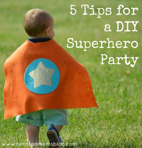 DIY Superhero Birthday Party :: Tips and Links | Houston Moms Blog