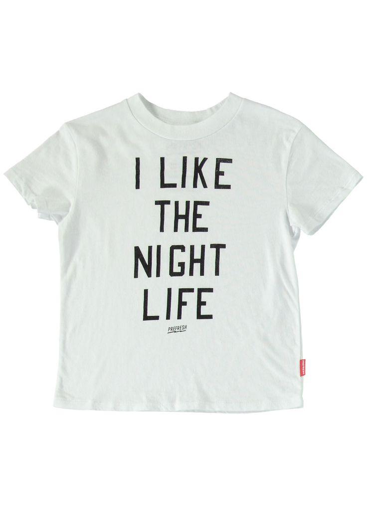 Night Life T-Shirt White