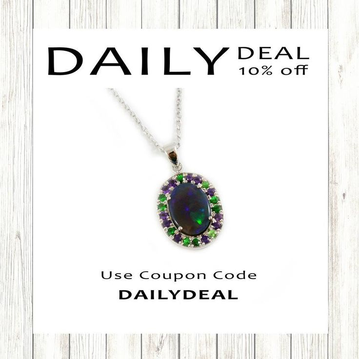 Our Daily Deal Flash Sale is back with -10% off this Australia electric blue jelly opal, amethyst and Tsavorite garnet solid 14k white gold set pendant necklace. Use coupon code: DAILYDEAL10.Buy them via the website here:https://shop.sarahhughes.net/products/copy-of-australian-jelly-opal-0-50-carat-loose-gemstone-des