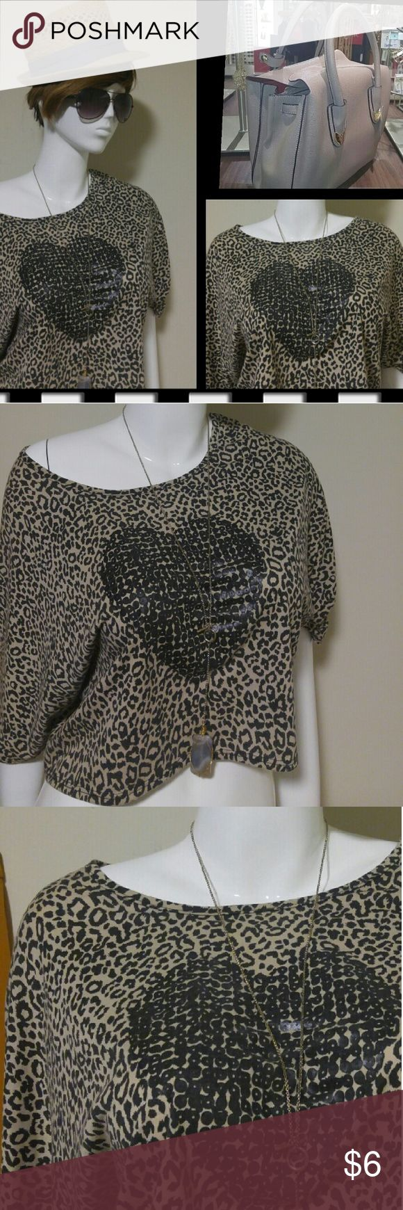 Cute animal print crop top Supercute top...rock it how you feel..in excellent condition...Possibly never worn. Tops Blouses