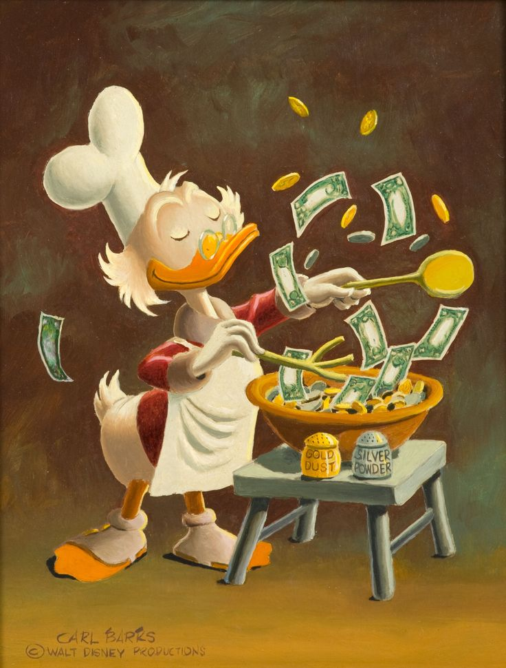 Uncle Scrooge - Banker's Salad by Carl Barks