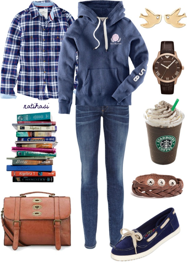 """""""Comfy College Outfit"""" by natihasi on Polyvore"""
