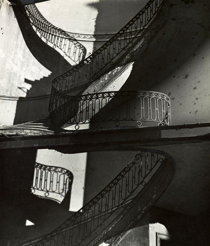 Bill Brandt - Bombed Regency Staircase, Upper Brook Street, Mayfair. c. 1942. S)