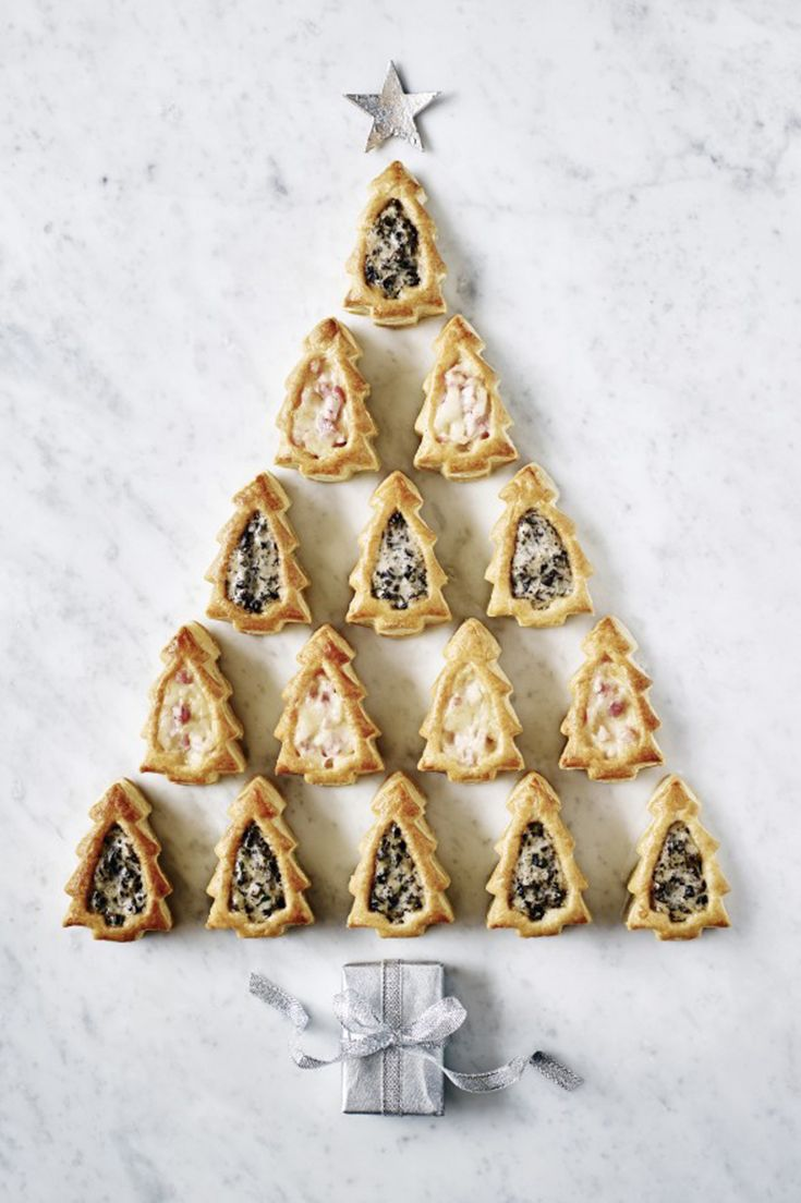 These pretty Christmas tree vol-au-vents have two delicious fillings: smoked ham with cheddar, and roasted mushroom with Maderia in a creamy sauce. Pick them up on the Waitrose website for your New Year's Eve spread.