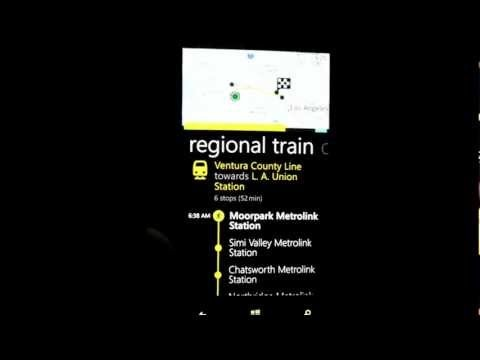 The must-have application for any commuter.  Available for Windows 8 Nokia phone owners, this application has information for hundreds of cities worldwide.  It consolidates train and bus schedules into a trip planner that you can use to get from one place to another.  It even gives you walk times if you have to walk between 2 points (i.e. bus st...