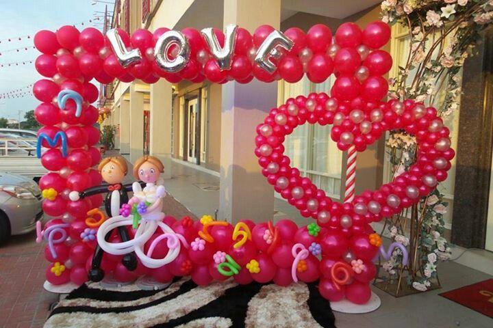 Decoracion para boda  Balloons backdrops / Murales con ...