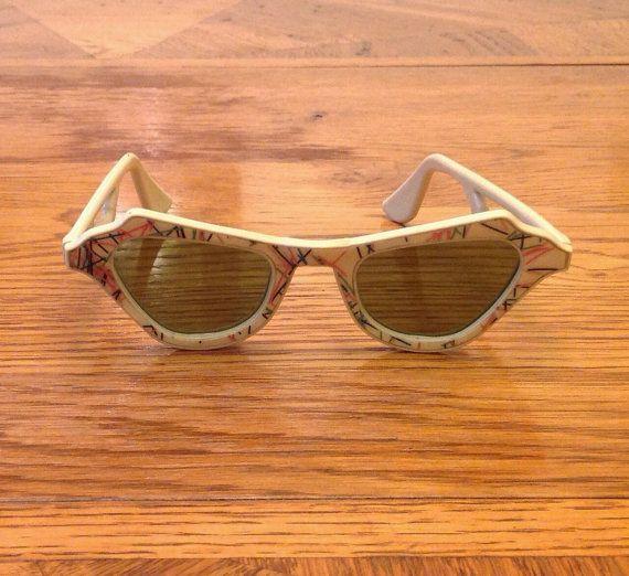 occhiali da sole vintage autentico gatto occhio di gillardgurl