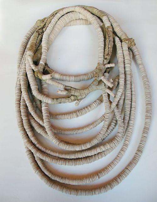 Silke Spitzer Necklace: Wood-fork, 2010 Wood,verneer