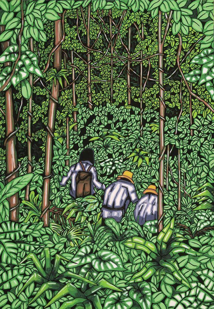 LA VORÁGINE, ¡Y la manigua se los comió!,  Artista Canen García. http://www.ellibrototal.com/ltotal/ficha.jsp?t_item=6&id_item=67898