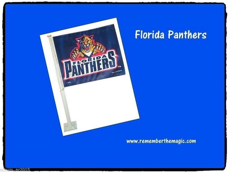 FLORIDA PANTHERS HOCKEY BANNER CAR AUTO WINDOW FLAG NEW/TAG EXPRESS