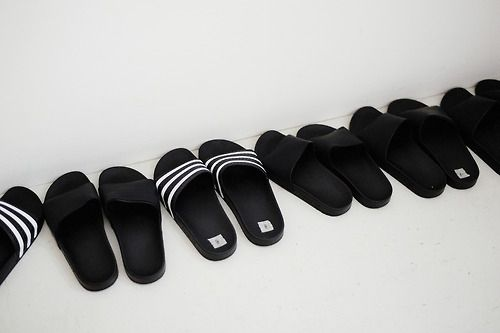 ae3ee78549a7cf Time to pull out those old school Adidas slippers!
