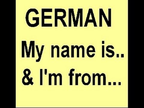 German Smalltalk - How to introduce yourself & tell people from where you are - YouTube