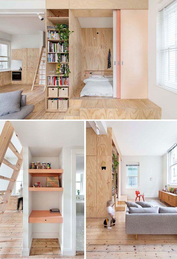 25 beste idee n over klein wonen op pinterest kleine ruimte meubelen kleine ruimte opbergers - Kamer klein bad ...