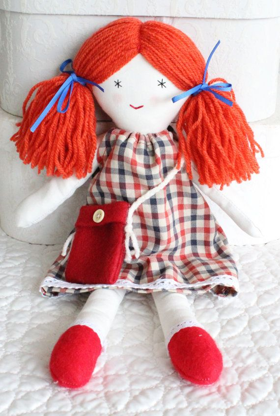 Rag doll little doll girls doll handmade cloth doll by Jamberoon