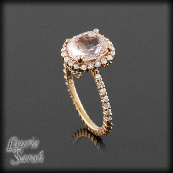 Diamond And Pink Sapphire Wedding Band 30 Nice Cushion cut diamond engagement