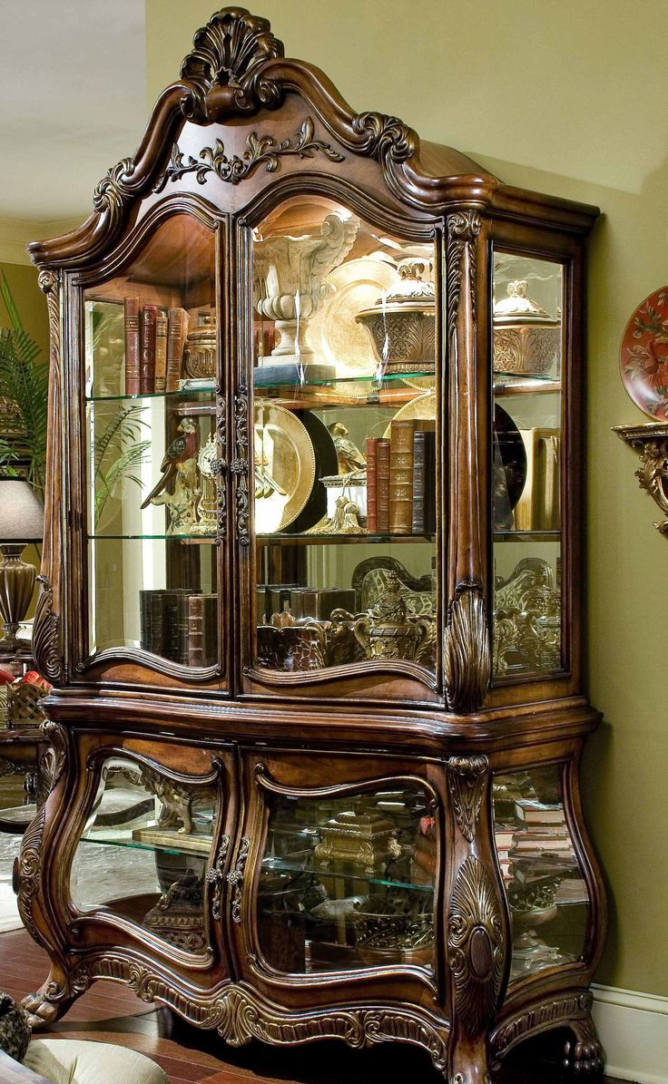 1000 ideas about curio cabinets on pinterest pulaski - Chateau beauvais living room furniture ...
