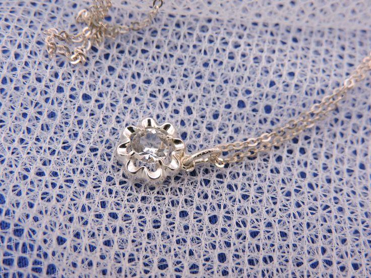 Vintage Kordes & Lichtenfels Zilveren  Zirkonia Hanger Ketting door Habbekratssmuk op Etsy