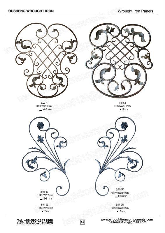 wrought iron fence panels (8)