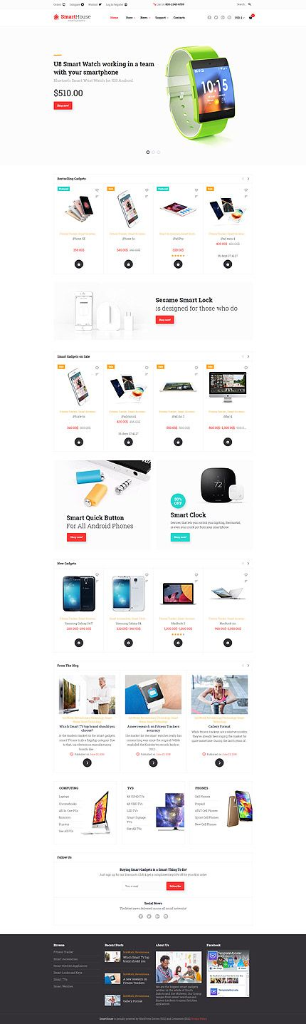 Smart Watches Online Store #WooCommerce #template. #themes #business #responsive #WooCommercethemes