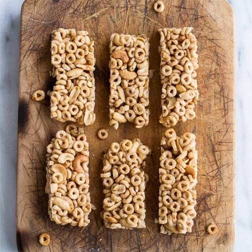 Perfect petite pans would be great to make these in. Recipe: http://www.healthyrecipes247.com/honey-nut-cheerio-bars/
