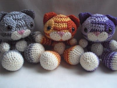 Crochet cute cats