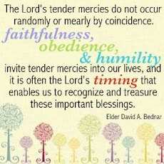 I just experienced one of the Lord's tender mercies early this morning...thank you. :)