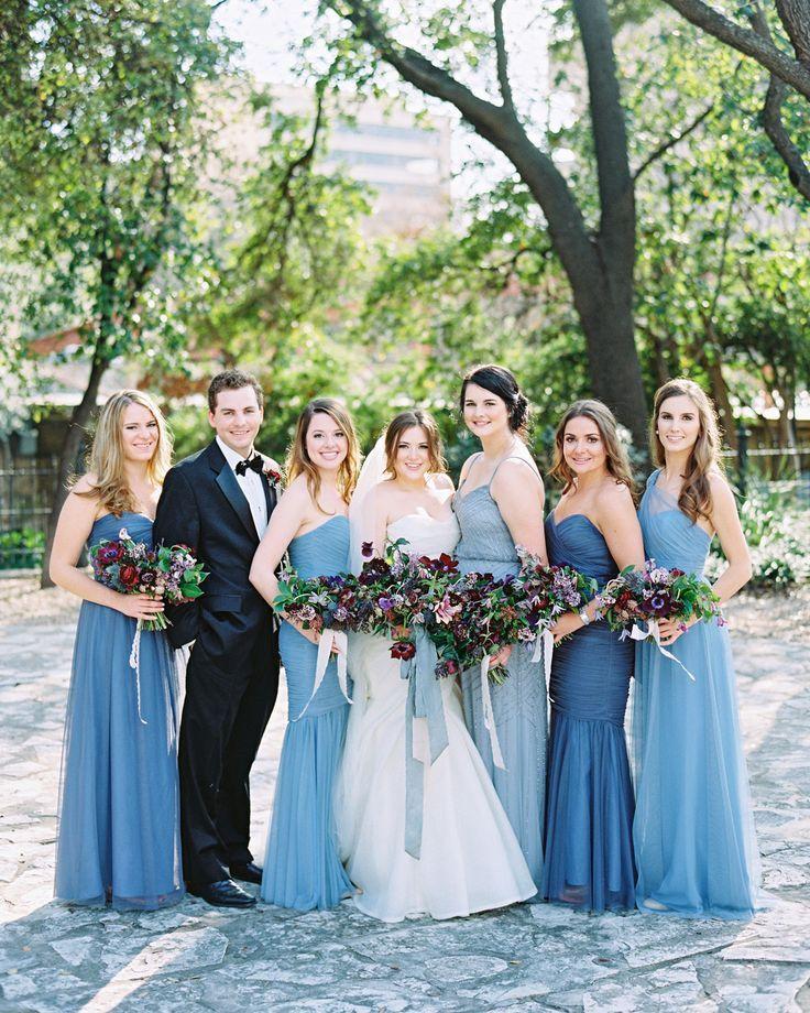 Sweetheart Chiffon Bridesmaid Dresses Long Mismatched Bridesmaid Dresses Blue Light Blue Royal Blue Bridesmaid Indigo Wedding Male Bridesmaid Wedding Colors