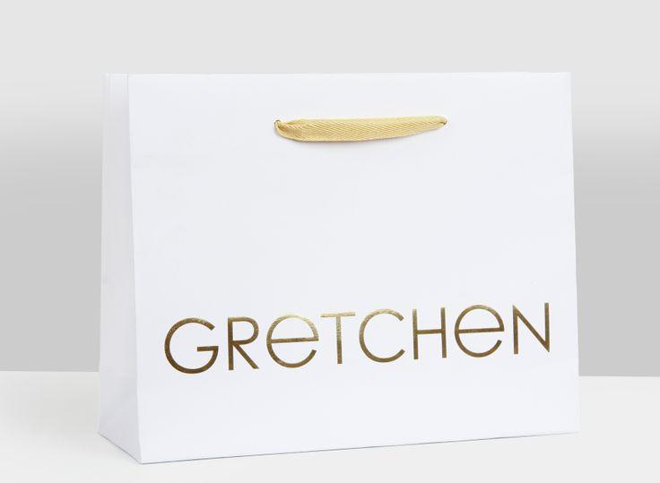 """Edle Papiertasche für """"Gretchen"""", gefertigt bei http://www.bagobag.com/papiertaschen-bedrucken/exklusive-papiertragetaschen.html"""