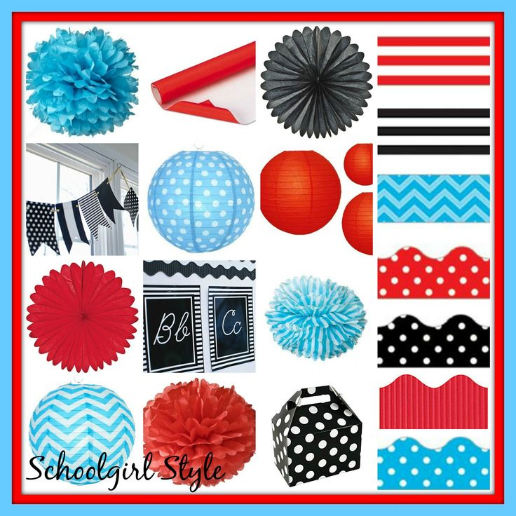 Red Classroom Decor : Red turquoise classroom theme decor by schoolgirl style