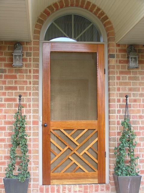 Traditional Screen & Storm Door | Chippendale Model | www.VintageDoors.com