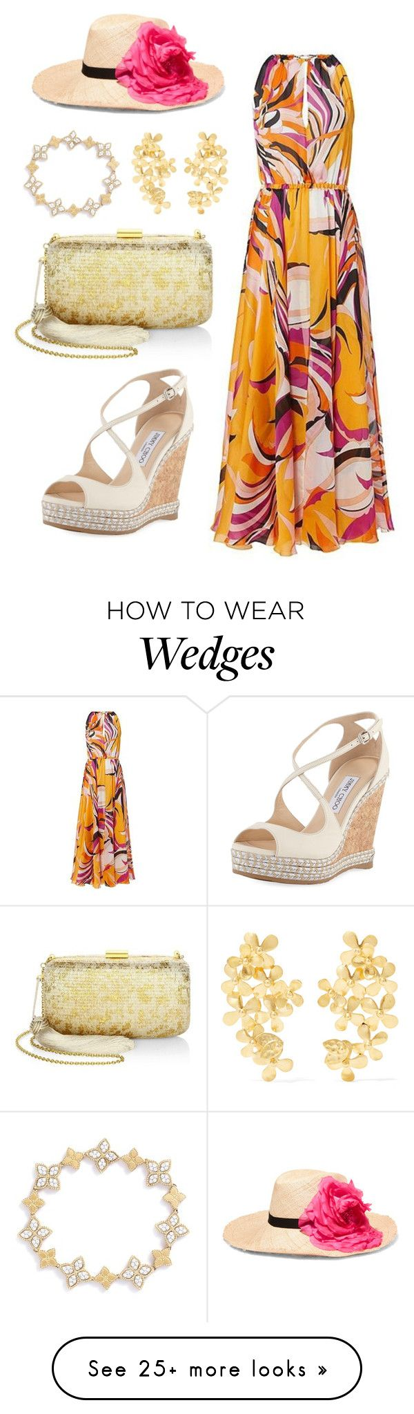 """""""Untitled #1548"""" by rubysparks90 on Polyvore featuring Emilio Pucci, Eugenia Kim, Jimmy Choo, Kayu, Pippa Small and Roberto Coin"""