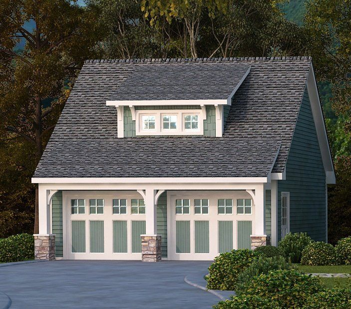 detached 2 car garage plans