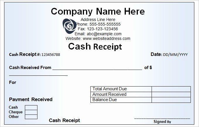 Free Cash Receipt Template Best Of Cash Receipt Template 16 Free Word Excel Documents Receipt Template Words Word Template