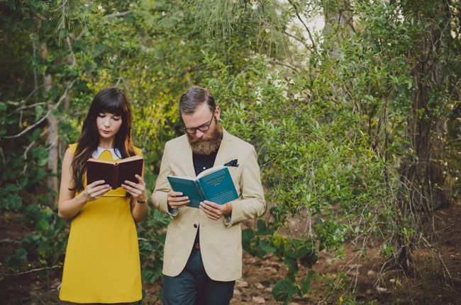 wes anderson engagement shoot | Green Wedding Shoes