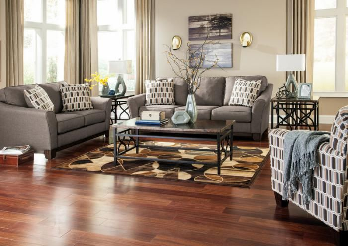 Jan Slate Sofa And Loveseat,Jaronu0027s Showcase. Ashley SofaContemporary  Bedroom FurnitureBrown SofaAccent ChairsAccent PillowsLiving Room  SetsContemporary ... Part 74
